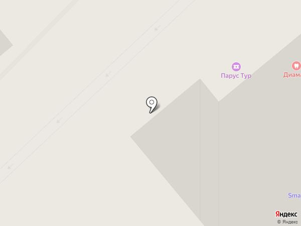 Диамант на карте Вологды
