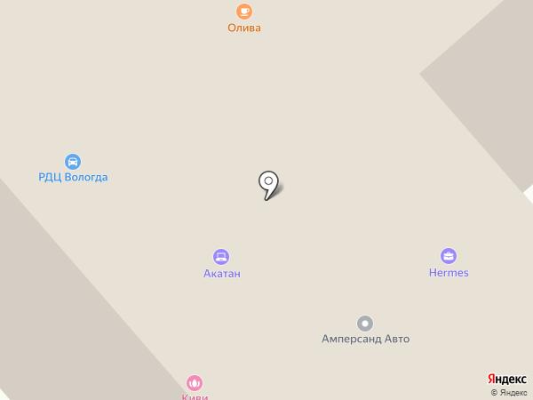 Амперсанд на карте Вологды
