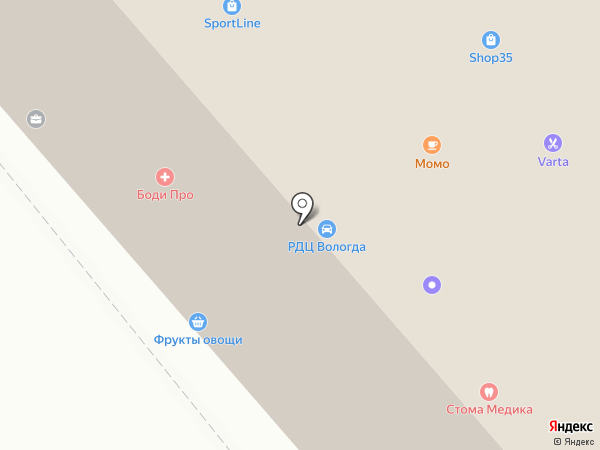 Тайм-мастер на карте Вологды