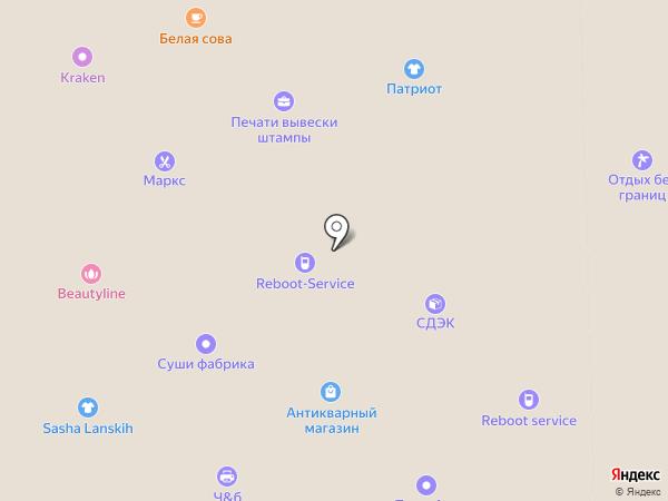 Глория на карте Вологды