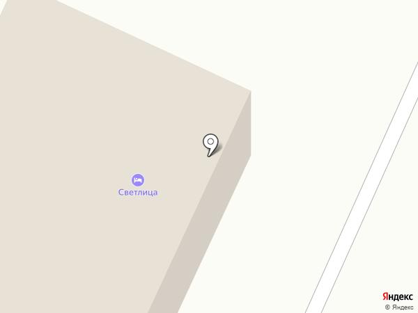 Светлица на карте Вологды