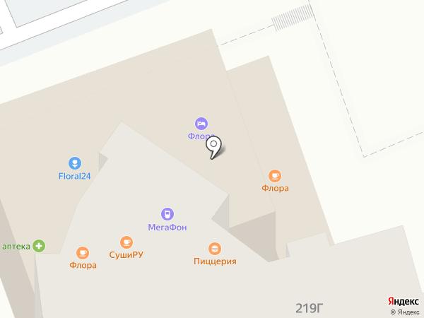 Флора на карте Сочи