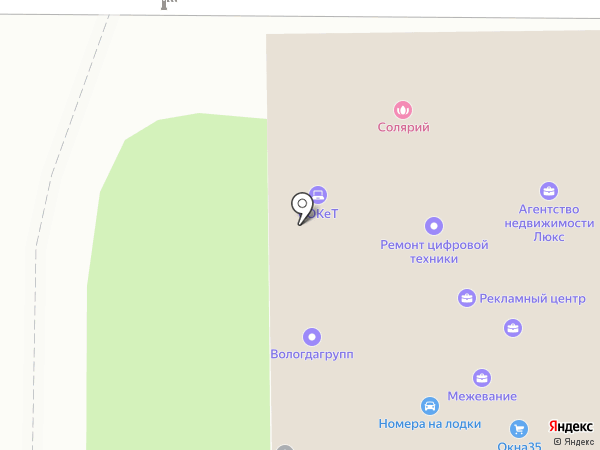 Вектор на карте Вологды