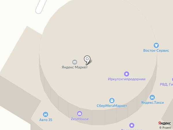 Газель на карте Вологды