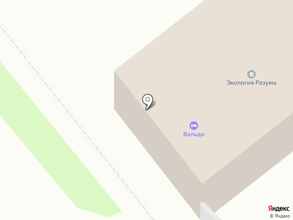 Вальди на карте Вологды