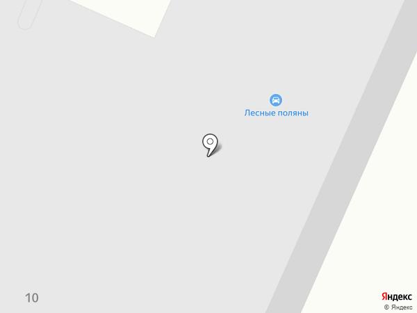 Лесные поляны на карте Кузнечихи