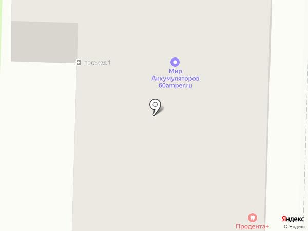 Заречный на карте Вологды