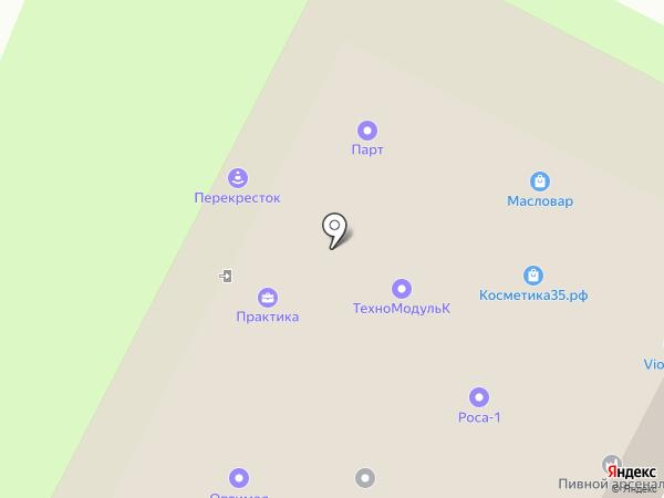 Практика на карте Вологды