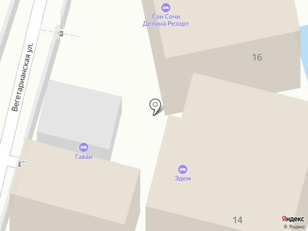 САН СОЧИ ДЕЛИНА РЕЗОРТ на карте Сочи
