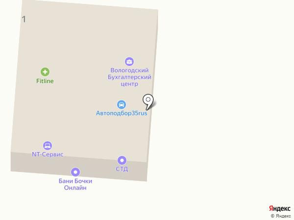 Северный дом на карте Вологды