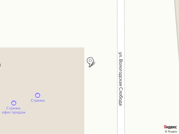 Контек на карте Вологды