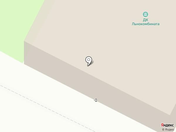 Дом культуры льнокомбината на карте Вологды