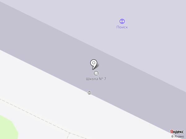 Средняя общеобразовательная школа №7 на карте Вологды