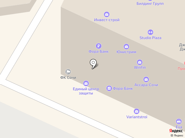 АКБ Фора-банк на карте Сочи