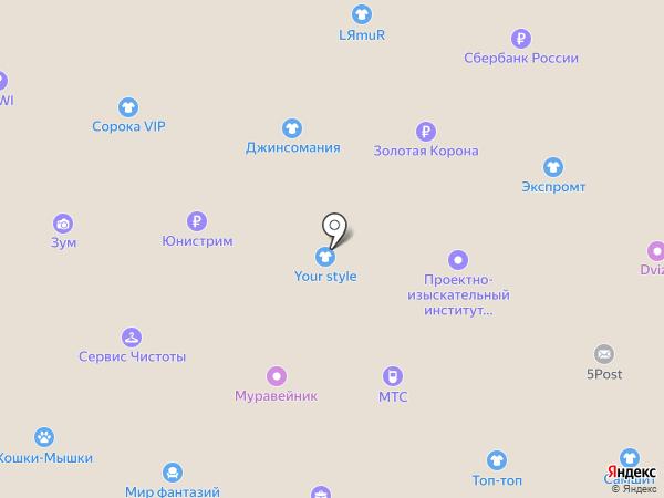 МТС на карте Вологды