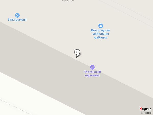 Пава на карте Вологды