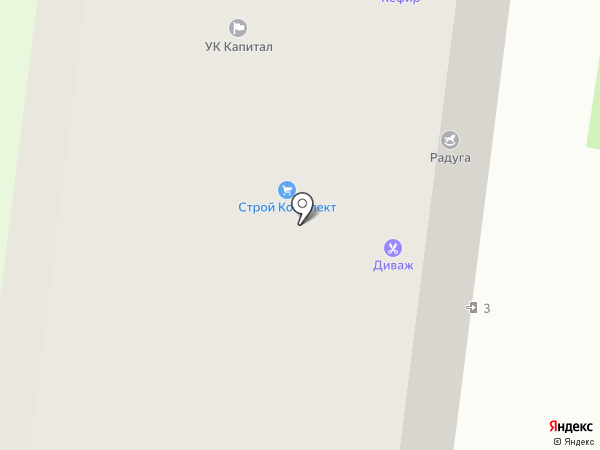 Диваж на карте Вологды