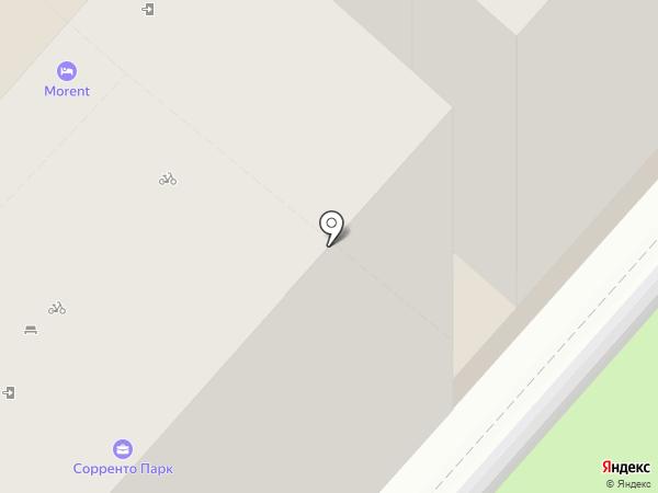 Цветочный на карте Сочи