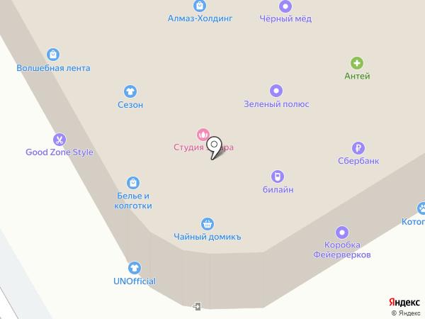 Итальянский квартал на карте Вологды