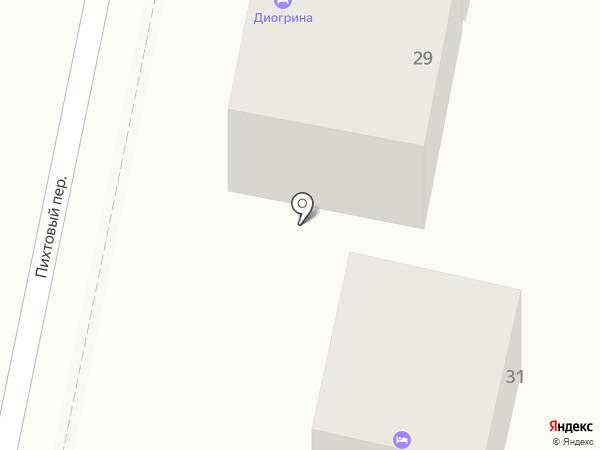 Олимпийский дворик на карте Сочи
