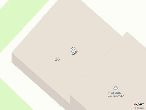 Пожарная часть №42 на карте Вологды