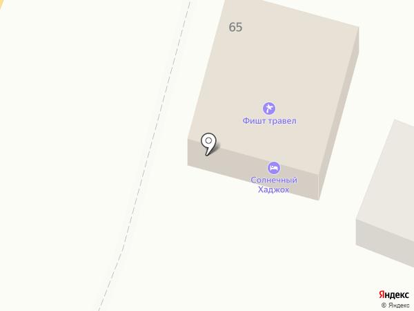 Солнечный Хаджох на карте Каменномостского