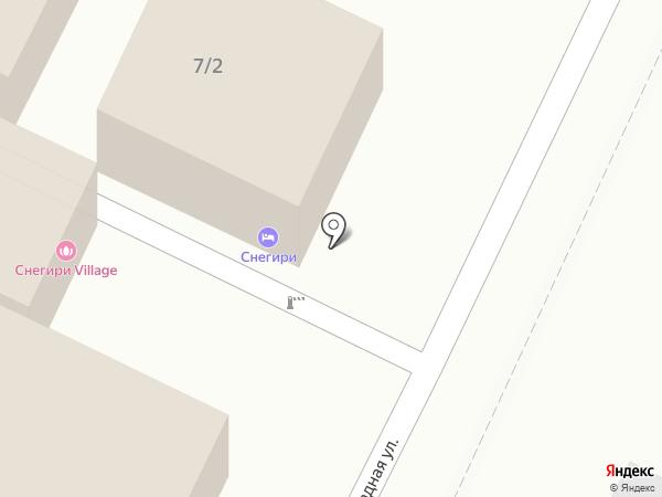 Снегири village на карте Сочи
