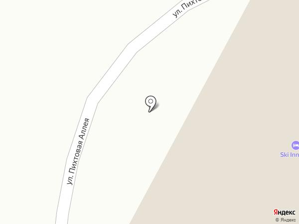 Варежка на карте Сочи