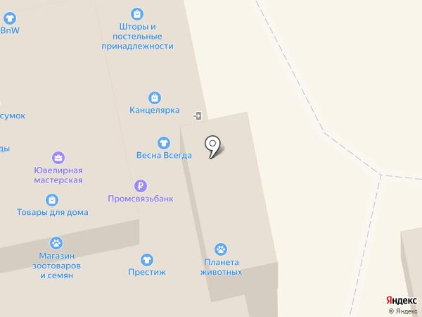 Магазин хозяйственных товаров, карнизов и посуды на карте Владимира