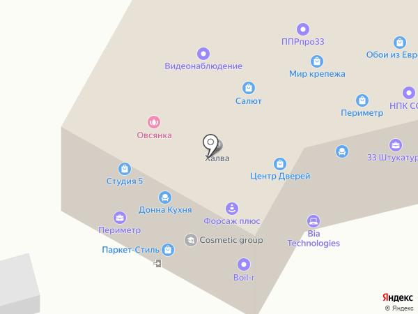 Волховец на карте Владимира