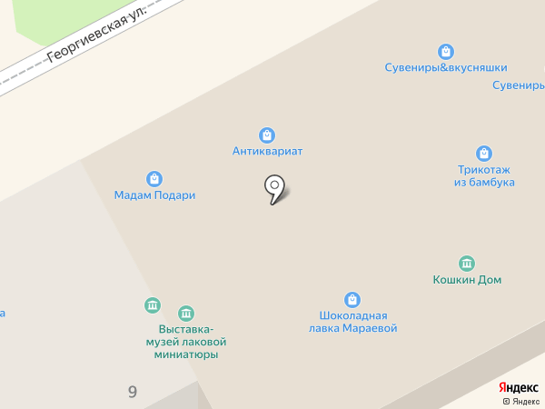 Рукотворная Мстёра на карте Владимира