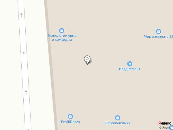 Меридиан на карте Владимира