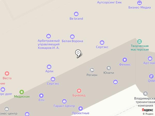Корус на карте Владимира