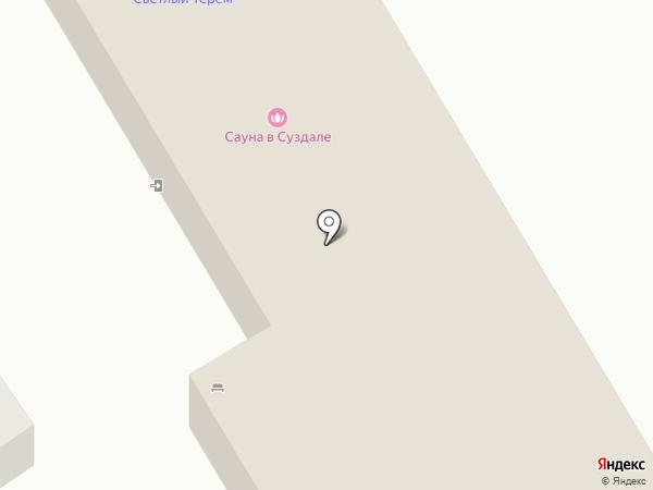 Светлый терем на карте Суздаля
