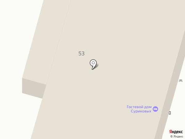 Сурикова на карте Суздаля