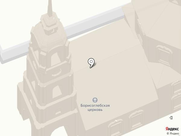 Борисоглебская церковь на карте Суздаля