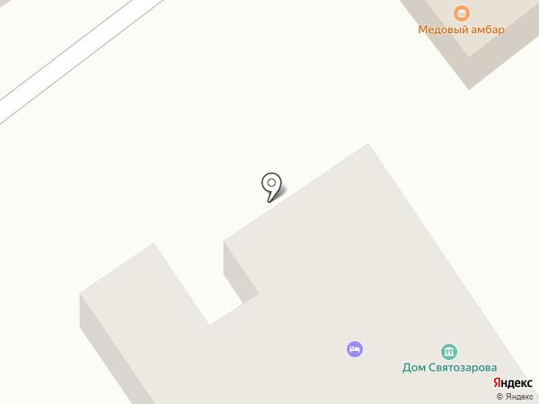 Дом священника Светозарова на карте Суздаля