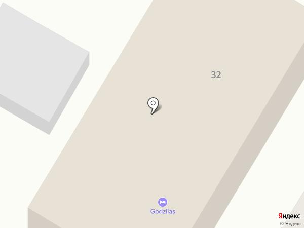 Godzilas на карте Суздаля