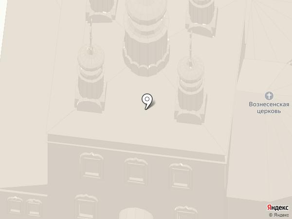 Вознесенская церковь с колокольней на карте Суздаля