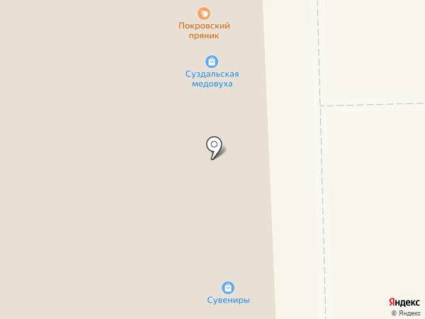 Цветочный магазин на карте Суздаля