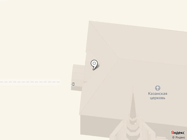 Казанская церковь на карте Суздаля