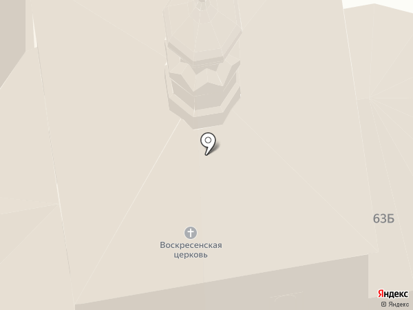 Воскресная церковь на карте Суздаля