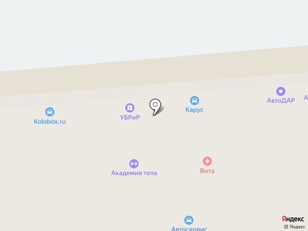 Егерь на карте Владимира