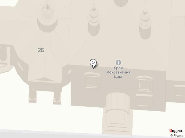 Цареконстантиновская церковь на карте Суздаля