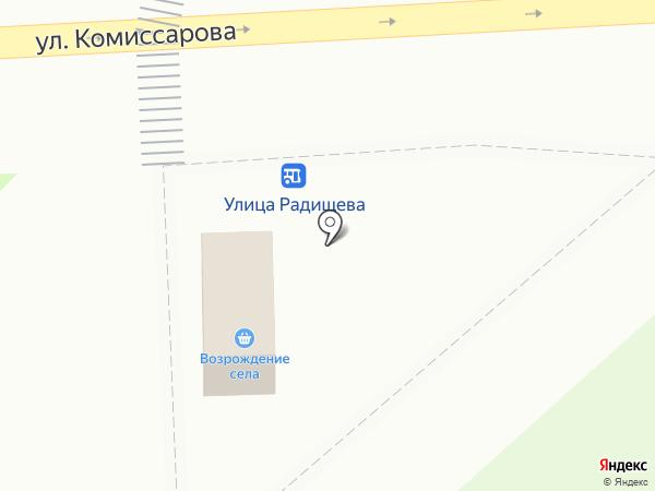 Возрождение из села на карте Владимира