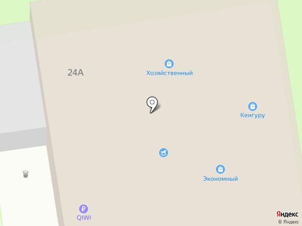 Магнит на карте Суздаля