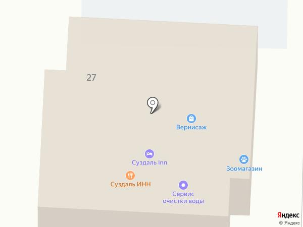 Салон-парикмахерская на карте Суздаля