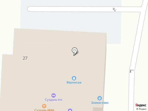 Артель на карте Суздаля