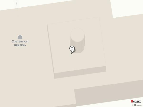 Сретенская церковь на карте Суздаля