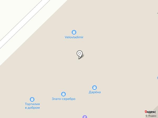 Магазин головных уборов на карте Владимира